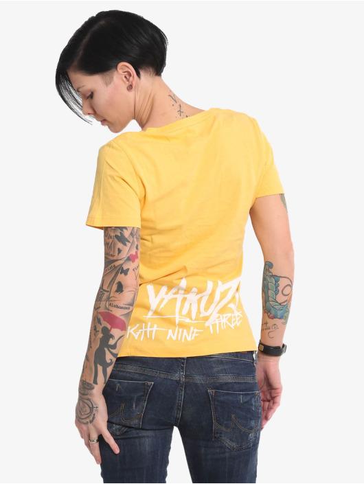 Yakuza T-Shirt Muerte Skull V Neck yellow