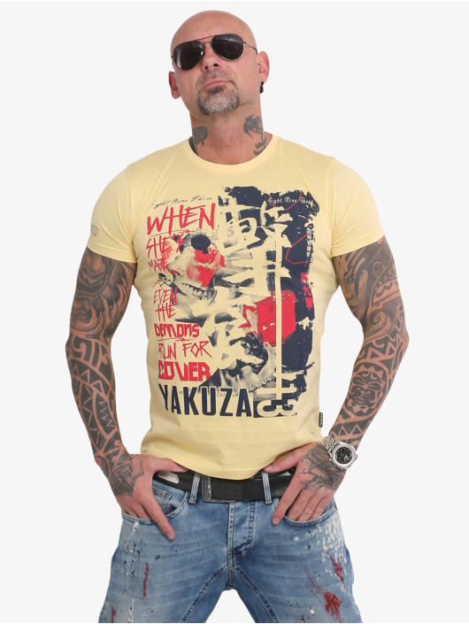 Yakuza T-Shirt Run For Cover yellow