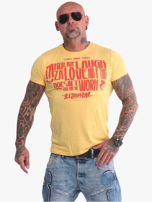 Yakuza T-Shirt Live Laugh Love yellow