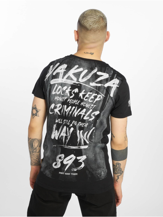 Yakuza t-shirt Lock Up zwart