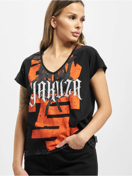 Yakuza t-shirt Sick Nippon V Neck zwart