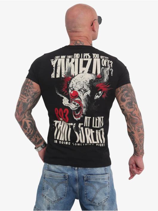Yakuza t-shirt Piss Off zwart