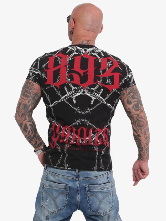 Yakuza t-shirt Barbwire zwart