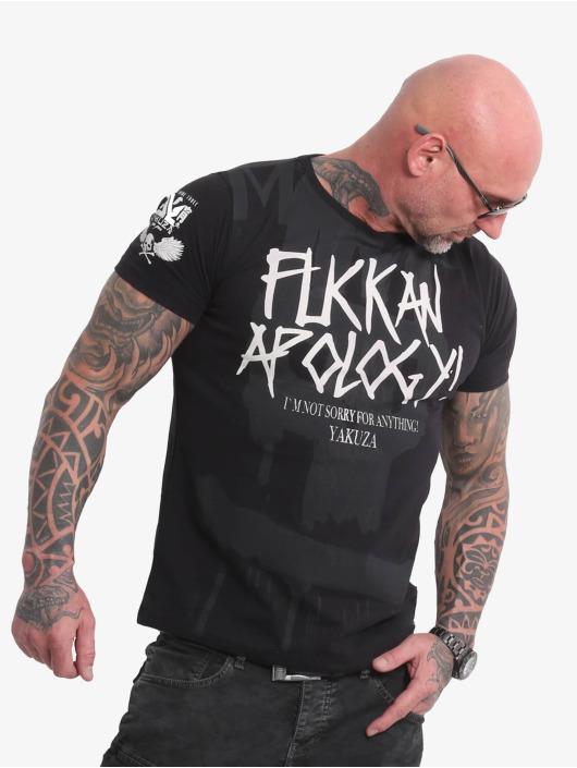 Yakuza t-shirt Apology zwart