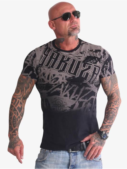 Yakuza t-shirt Life Allover zwart