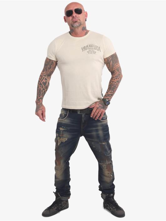 Yakuza T-shirts Words Like Bullets beige
