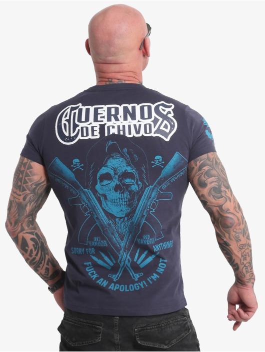 Yakuza T-shirts Cuernos De Chivo V02 blå