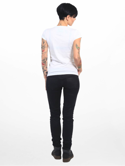 Yakuza T-shirts Basic Line Script V Neck hvid