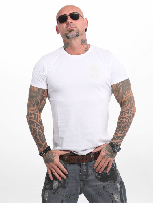Yakuza T-shirts Basic Line 4W hvid