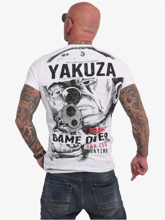 Yakuza T-shirts Hating Clown hvid