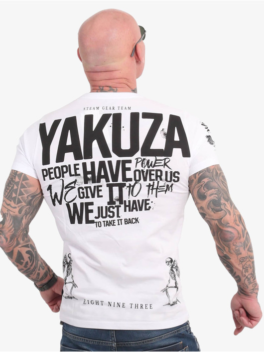 Yakuza T-shirts Power Over Us hvid