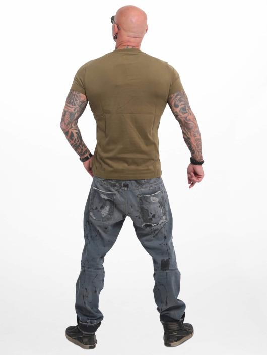 Yakuza T-shirts Basic Line 4W oliven