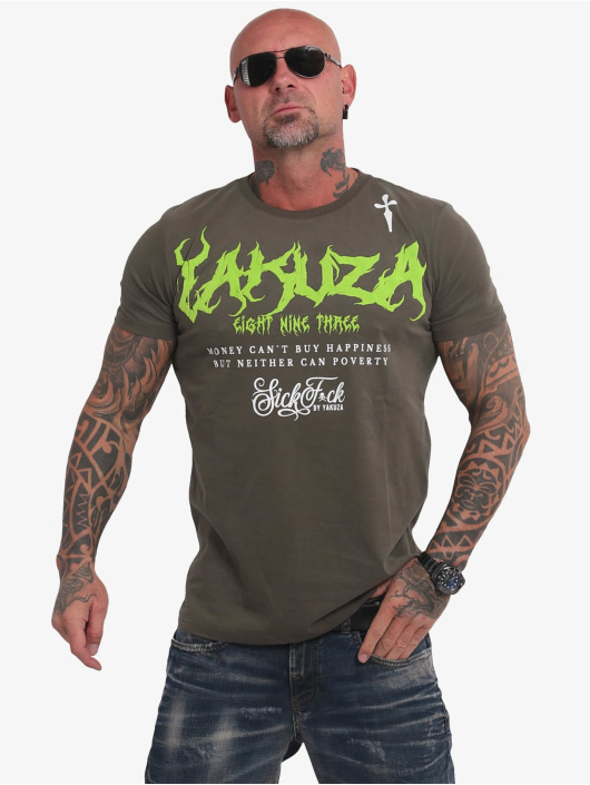 Yakuza T-shirts Buy Happiness oliven