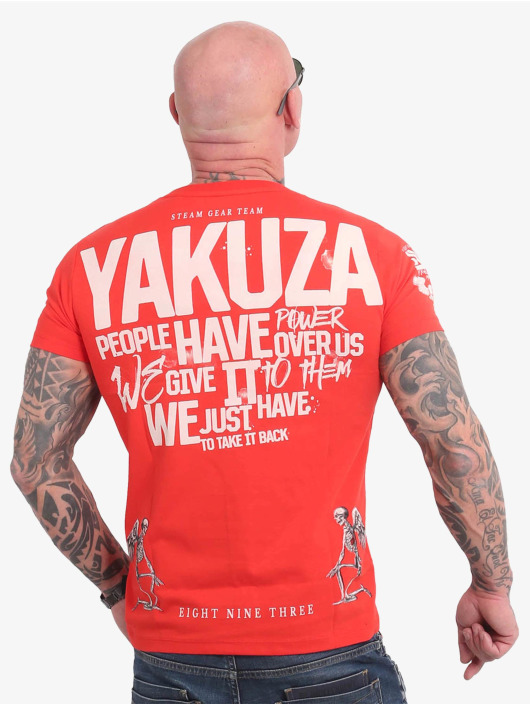 Yakuza T-shirts Power Over Us orange