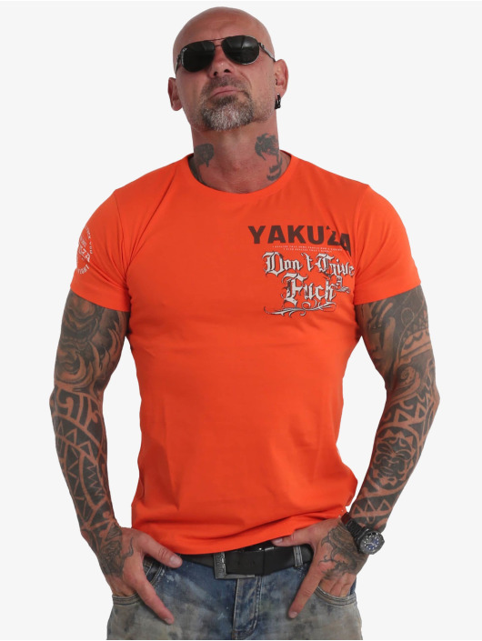 Yakuza T-shirts Give A Fck orange