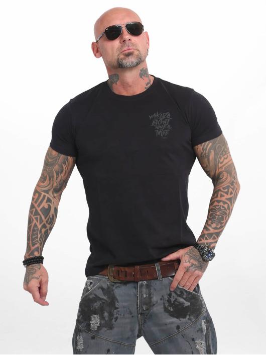 Yakuza T-shirts Basic Line 4W sort