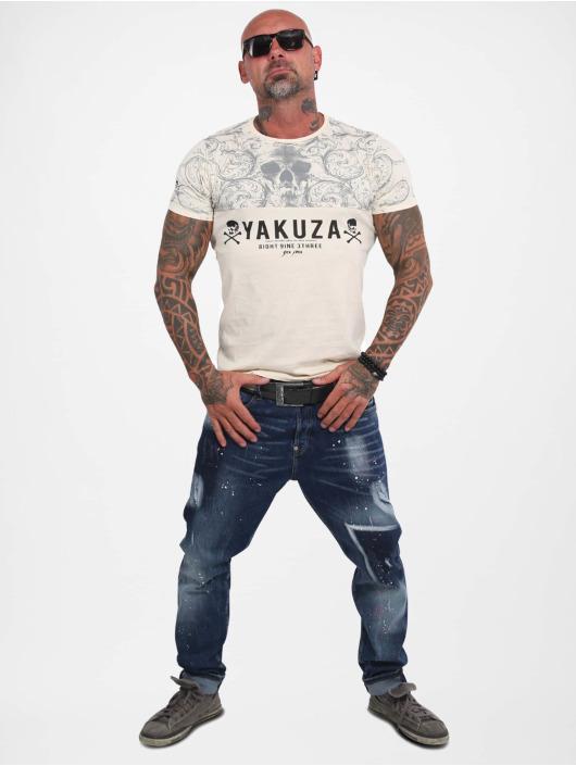 Yakuza T-Shirty Ornamentic Skull bezowy