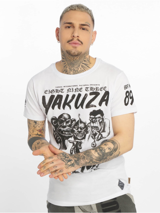 Yakuza T-Shirty Enemy bialy
