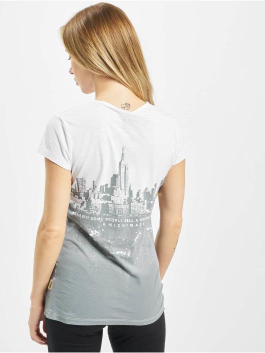 Yakuza T-Shirty Skyline bialy