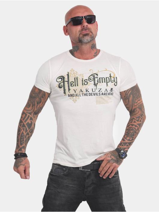 Yakuza T-Shirty Hell Is Empty bialy