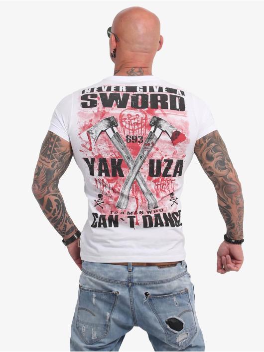 Yakuza T-Shirty Sword bialy