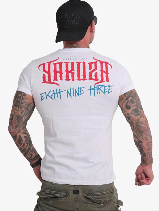 Yakuza T-Shirty Through Skull bialy