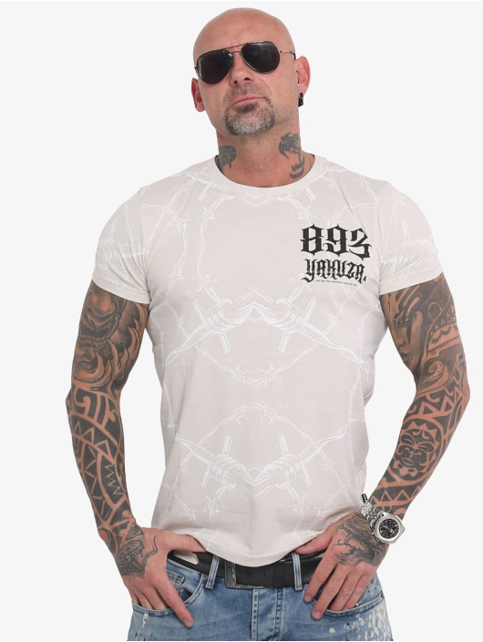 Yakuza T-Shirty Barbwire bialy