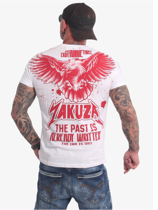 Yakuza T-Shirty Dry Ink bialy