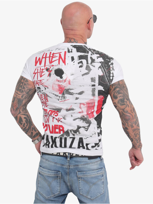 Yakuza T-Shirty Run For Cover Allover bialy