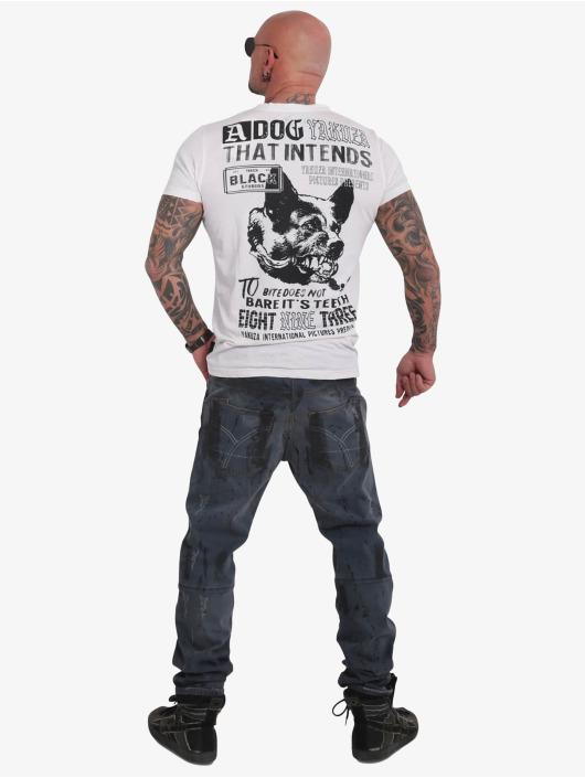 Yakuza T-Shirty Dog Burnout bialy