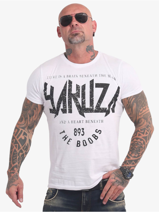 Yakuza T-Shirty Boobs bialy
