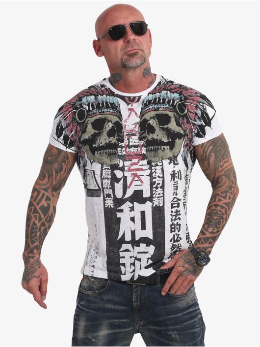 Yakuza T-Shirty Sick Nippon V02 bialy