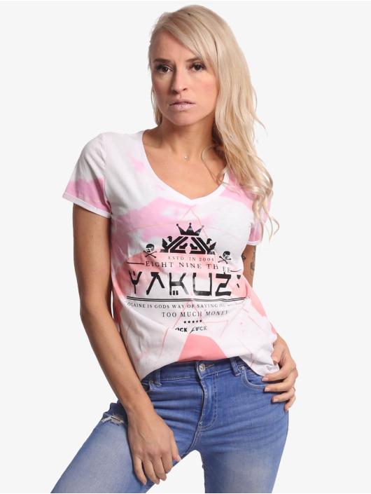 Yakuza T-Shirty Spacy bialy