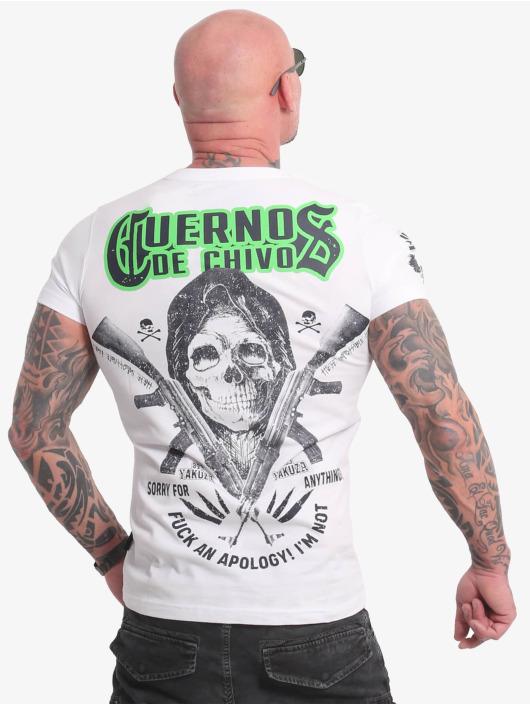 Yakuza T-Shirty Cuernos De Chivo V02 bialy