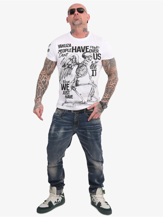 Yakuza T-Shirty Power Over Us bialy