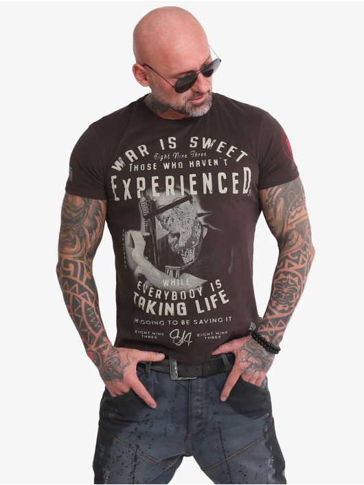 Yakuza T-Shirty Sweet War brazowy