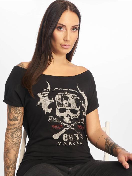 Yakuza T-Shirty Flying Skull czarny
