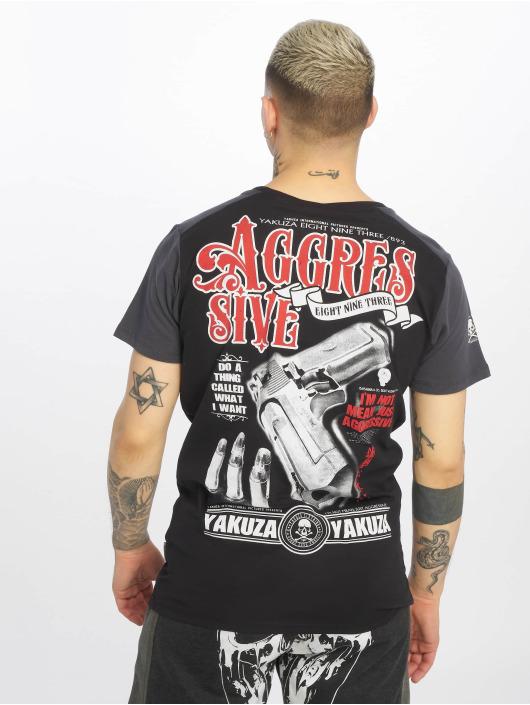Yakuza T-Shirty Aggressive Two Face czarny