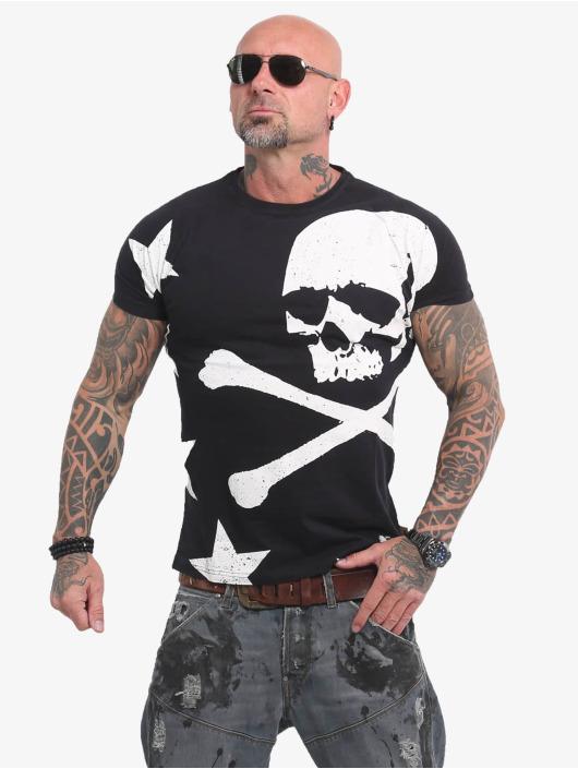 Yakuza T-Shirty Overskulled czarny