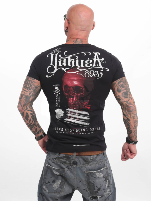 Yakuza T-Shirty Never Stop czarny