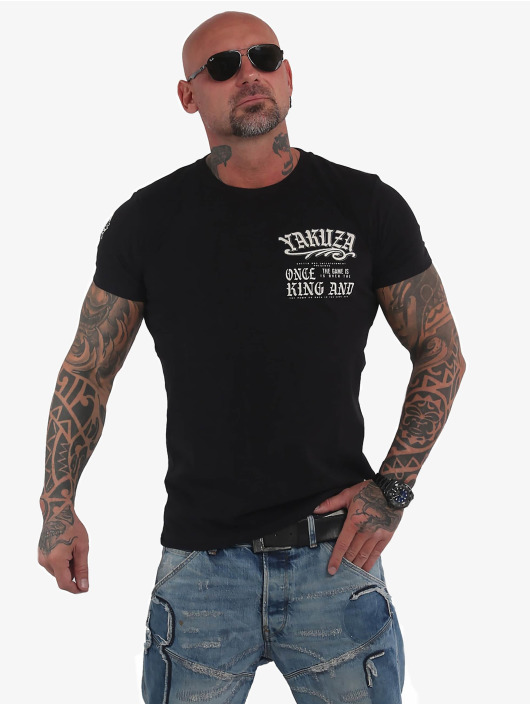 Yakuza T-Shirty King czarny