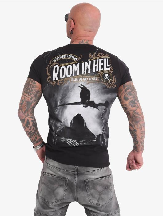 Yakuza T-Shirty Room In Hell czarny