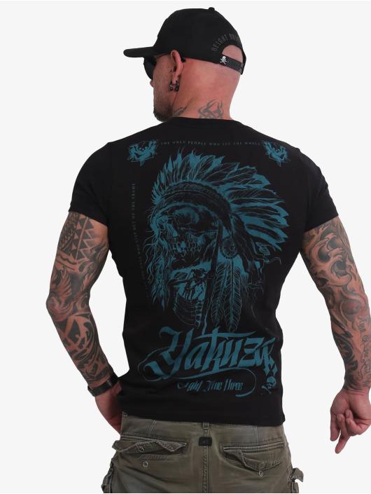 Yakuza T-Shirty Indian Skull czarny