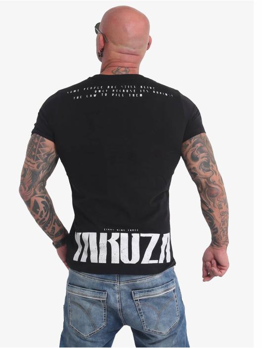 Yakuza T-Shirty Crucified czarny