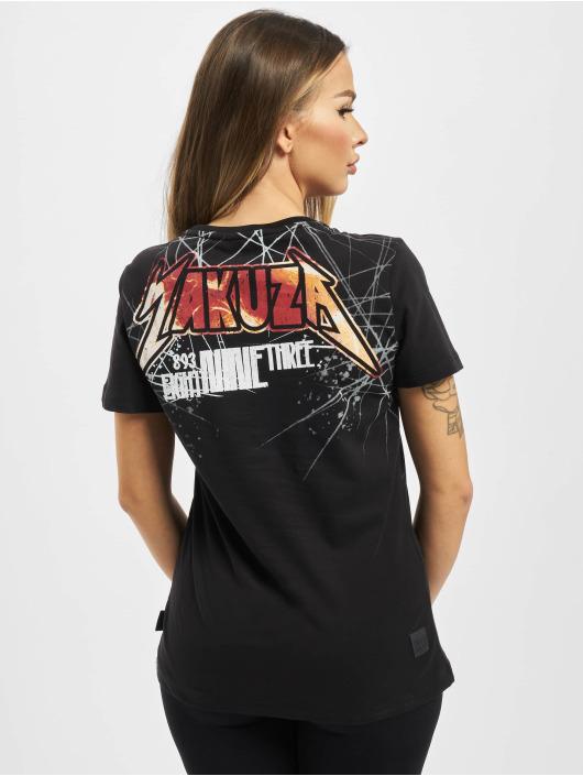 Yakuza T-Shirty My Heart V Neck czarny