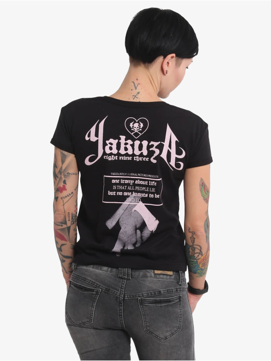 Yakuza T-Shirty Double Cross Box Fit czarny