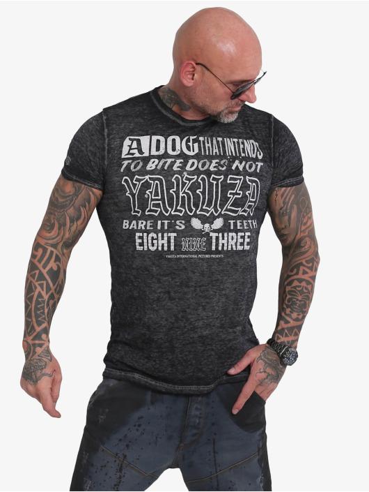 Yakuza T-Shirty Dog Burnout czarny