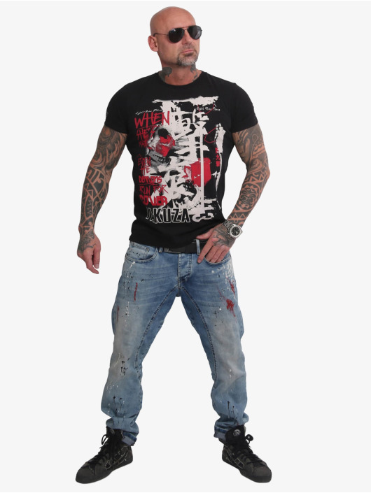 Yakuza T-Shirty Run For Cover czarny
