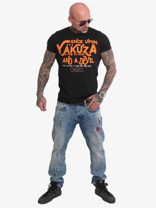 Yakuza T-Shirty Once Upon czarny