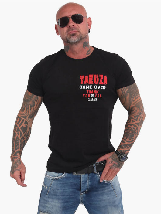 Yakuza T-Shirty Game Over czarny